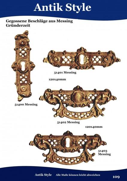 Gegossene Beschläge für Möbel aus Messing Louis – Philippe. Seite 109