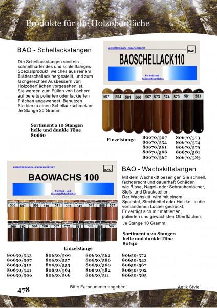Wachskitt / Schellackstangen Seite 0382