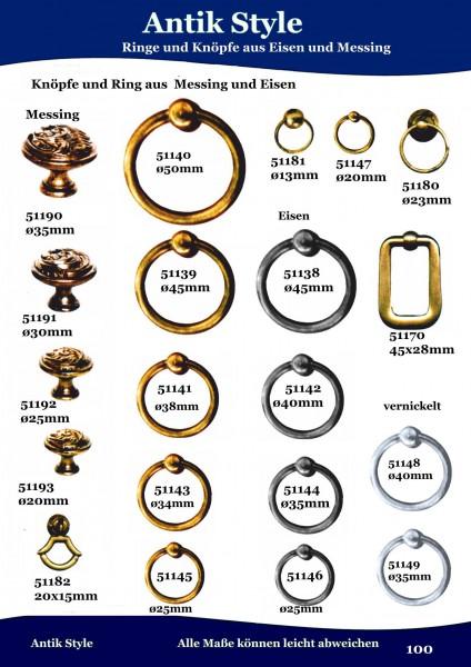 Ringe und Knöpfe aus Messing und Eisen. Seite 120