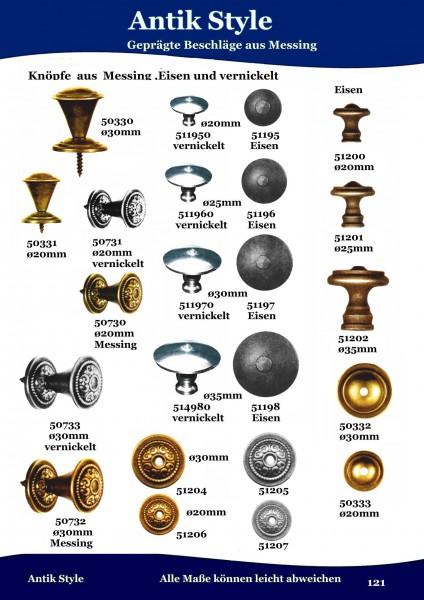 Ringe und Knöpfe aus Messing und Eisen. Seite 121