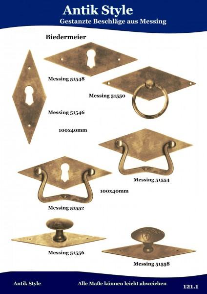 Gestanzte Beschläge für Möbel , Biedermeier aus Messing. Seite 146