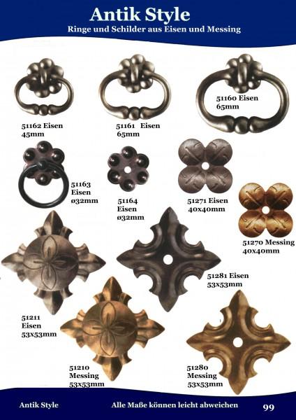 Ringe und Schilder aus Messing und Eisen. Seite 119