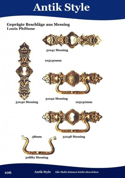 Geprägte Beschläge für Möbel , Louis – Philippe aus Messing. Seite 106
