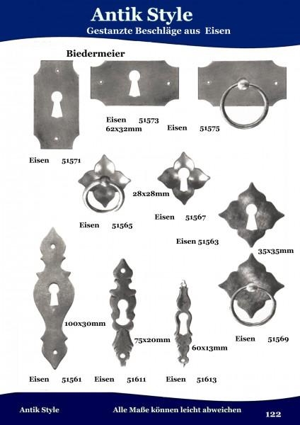 Gestanzte Beschläge für Möbel , Biedermeier aus Eisen. Seite 149