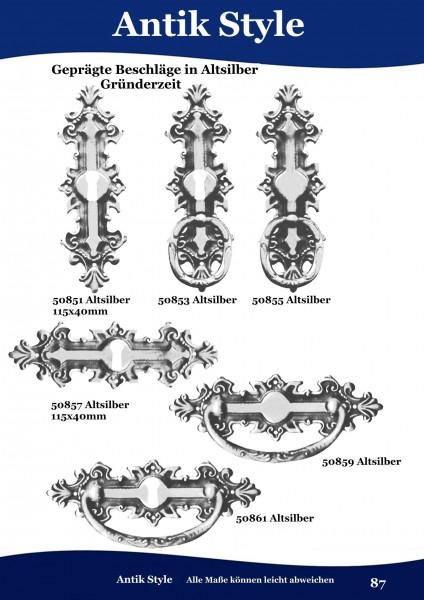 Geprägte Beschläge für Möbel ,Gründerzeit Altsilber. Seite 87