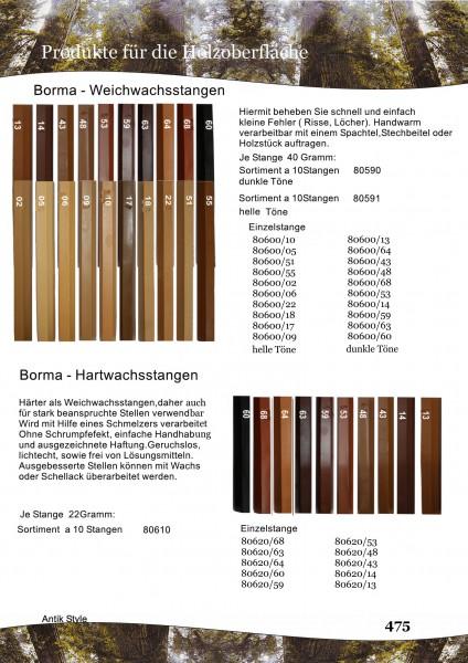 Hart/Weich Wachsstangen Seite 0381.1