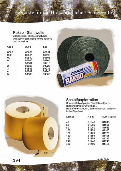 Stahlwolle/Schleifpapier