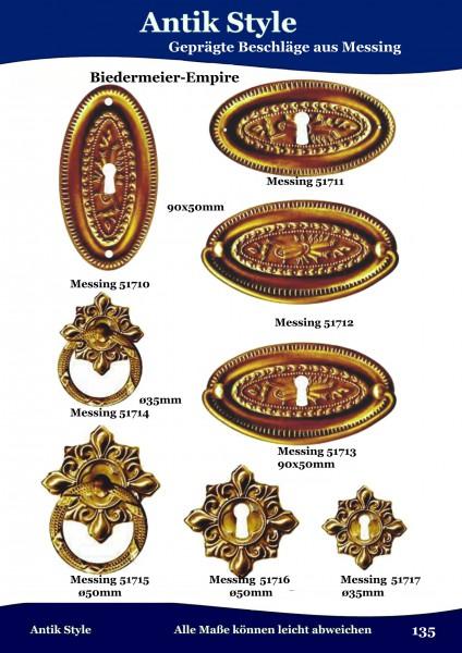Geprägte Beschläge für Möbel , Biedermeier-Empire aus Messing Seite 171