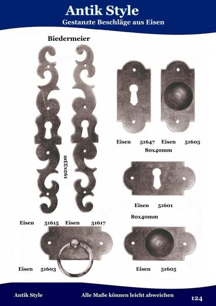 Geprägte Beschläge für Möbel , Louis – Philippe aus Eisen. Seite 153