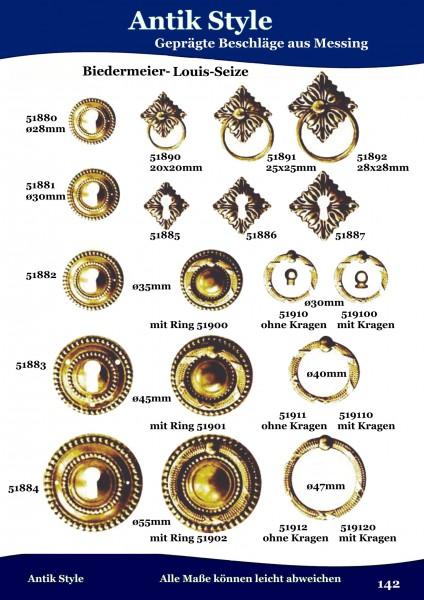 Geprägte Beschläge für Möbel , Biedermeier-Empire aus Messing Seite 179