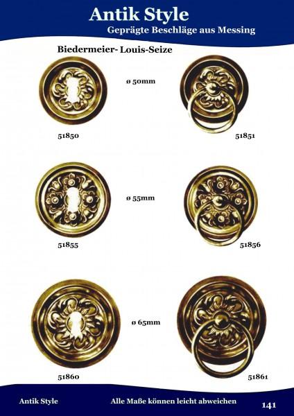 Geprägte Beschläge für Möbel , Biedermeier-Empire aus Messing Seite 177