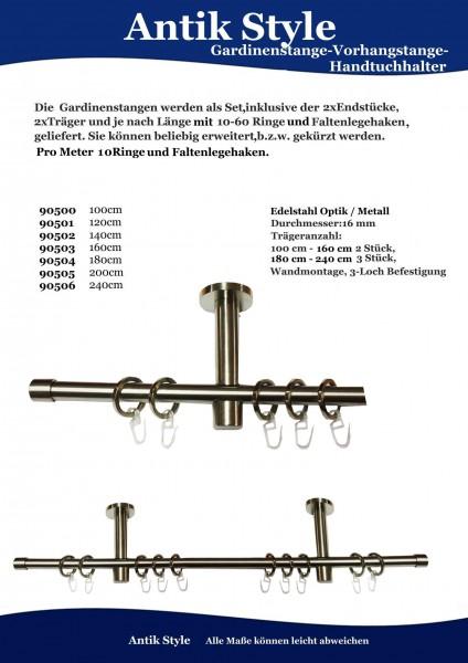 Gardinenstangen Edelstahl Seite 0422.1