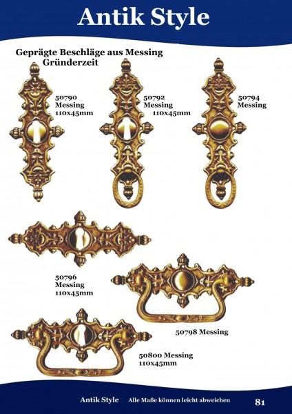 Geprägte Beschläge aus Messing, für Möbel ,Gründerzeit Seite 81