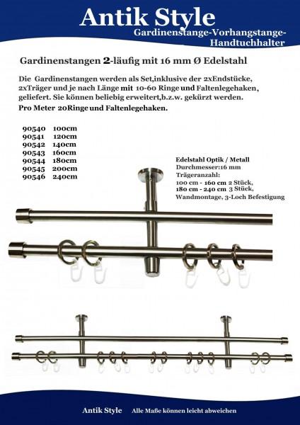 Gardinenstangen Edelstahl Seite 0422.2