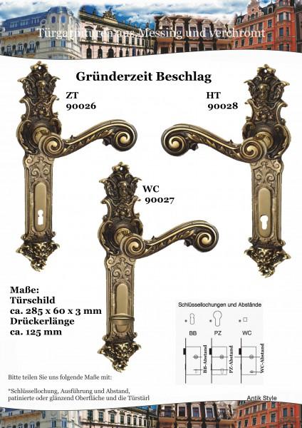 Türgarnituren Gründerzeit-Drücker-Garnitur Seite 0403