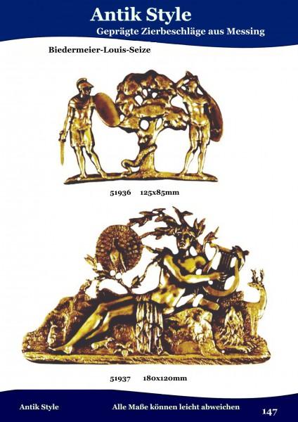Geprägte Beschläge für Möbel , Biedermeier - Louis-Seize aus Messing. Seite 183
